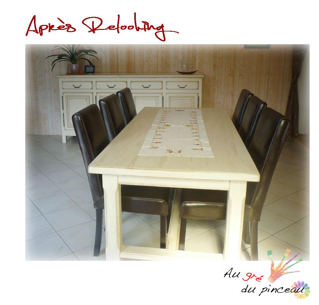Salle manger modernis e au gr du pinceau for Table salle a manger qui ne prend pas de place