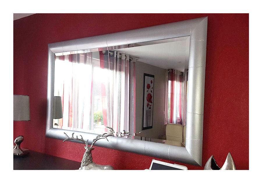 Miroir en bambou relook au gr du pinceau for Miroir bambou