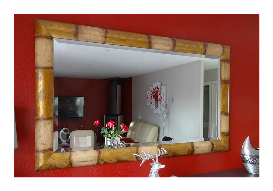 Miroir en bambou relook au gr du pinceau for Miroir en bambou