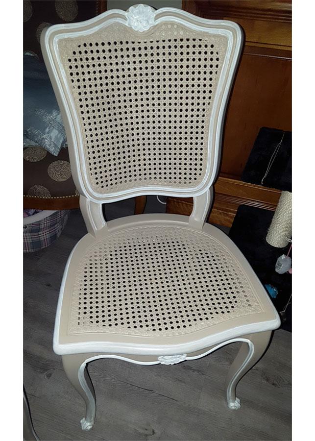 Chaise après relooking