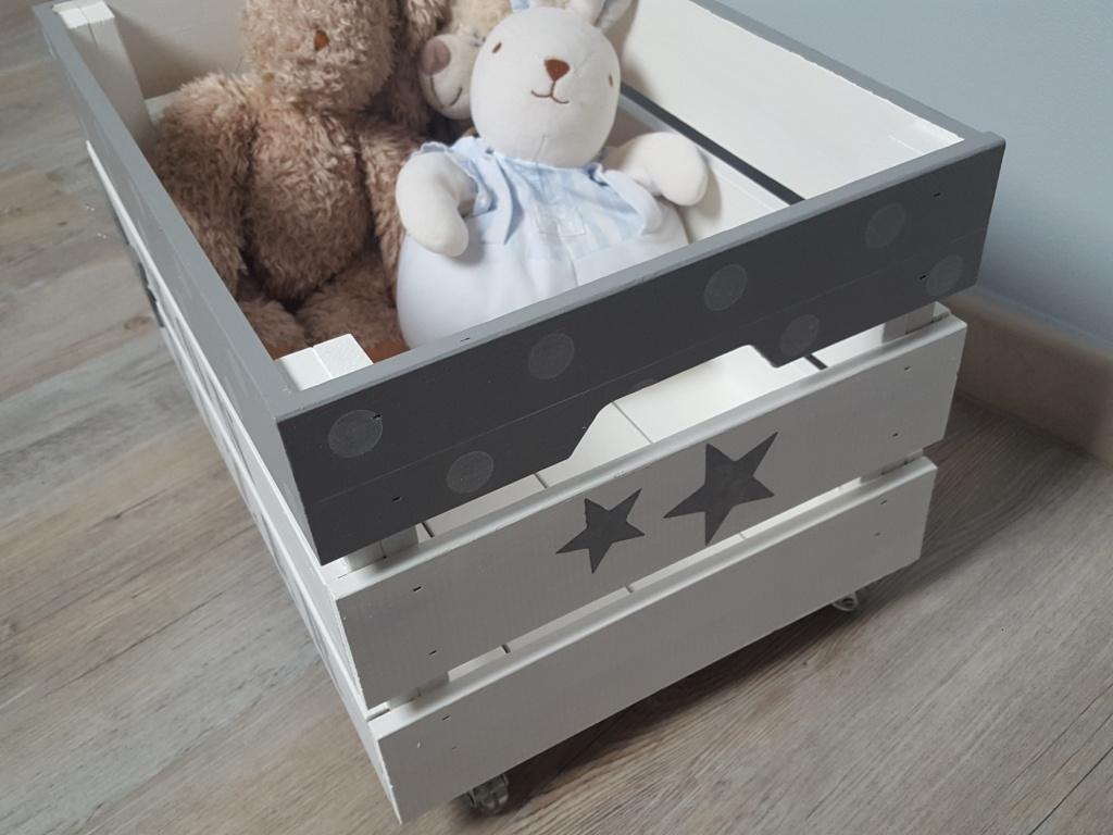 caisse de rangement enfant au gr du pinceau. Black Bedroom Furniture Sets. Home Design Ideas