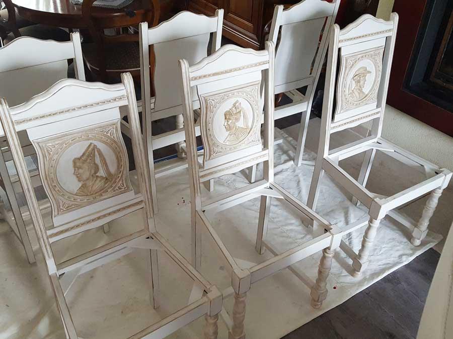 Chaises après peinture