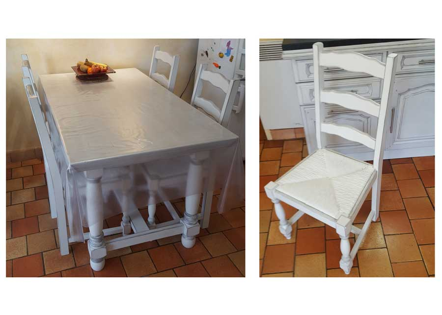 Table et chaise
