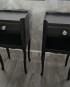 Table de chevets customisés noirs