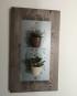Planche de bois murale aimantée pour plantes