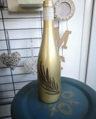 augredupinceau_bouteille en verre_or 4