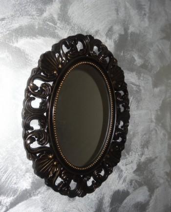 augredupinceau_miroir ovale noir_ patiné or 1