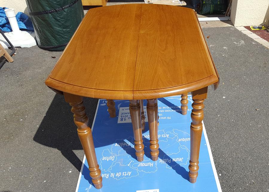 Table en chêne massif avant relooking