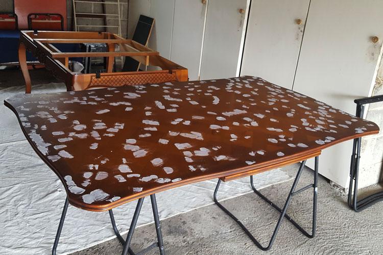 restauration de la table