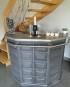 Ancien bar comptoir en chêne relooké